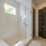The master walk in tiled shower. Makes for your own private oasis.