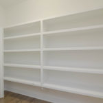 Built in shelving goes on for days
