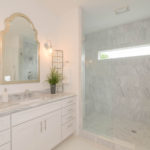 Gorgeous shower and vanity area in this bathroom