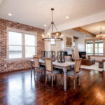 The floor plan is wide and open- perfect for entertaining.