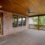 Amazing back covered deck for relaxing and socializing.