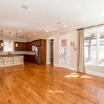 These gleaming hardwoods are throughout the entire main level.