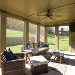 Back downstairs, enjoy your screened porch for cool summer nights.