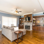 The heart of the home is this family gathering space in the open floor plan.