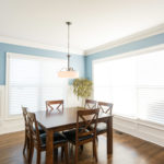 Enjoy your morning coffee in this sunny breakfast room.
