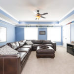 18x17 Family game room is spacious enough for movie night or a pool or ping pong table!