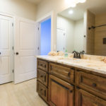 All the bathrooms in this beautiful home have granite countertops and great cabinet space.