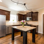 Spacious kitchen with granite countertops will thrill the chef in the family.
