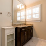 Spacious full bath for the 3rd floor--whether you have the space planned as a bedroom or a playroom, this elegant bath won't disappoint