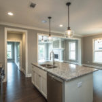 Granite countertops and stainless appliances in the new kitchen. Plenty of cabinet space!