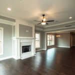 Open floor plan with beautiful finishes as you would expect in a luxury community.
