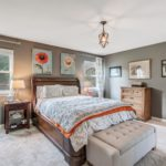 Designer paint colors were used all throughout this charming home.