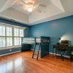Love this peaceful blue color on the walls. Perfect for a child's room.