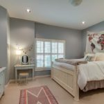 The basement bedroom is shown here - Please note plantation shutters throughout the house.