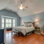 Vaulted ceilings in your master bedroom with beautiful hardwoods with large closet.