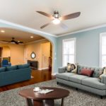 Living room is shown virtually staged.