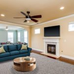 The shot shows you the expansiveness of this great room which is perfect for entertaining - this room is virtually staged.