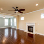 The shot shows you the expansiveness of this great room which is perfect for entertaining.