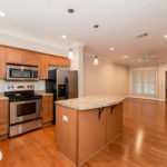 Great kitchen space with laminate countertops, stainless appliances and plenty of cabinet space.