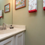 Half bath downstairs for your guests is right off the kitchen.