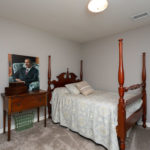 3rd bedroom is a little larger, situated in the corner of the upstairs.