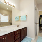 The master bath is en suite - includes double vanity and large walk in closet.