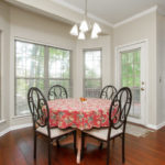 The breakfast nook is sunny & cheerful place to start your day.