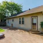 This lovely, small backyard with patio is perfect for entertaining or tailgating before the Vandy games!