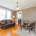 Living room flows easily into your new dining room, which is large enough for all your family gatherings.