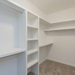 Master closet with plenty of space for your entire wardrobe.