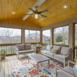 One of our favorite features of this home is the screened porch!