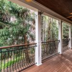 This lovely balcony is just off the kitchen/living room area. Drink your morning coffee and listen to the birds chirp!