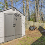 Storage Shed is super practical and will stay with the property.
