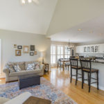 The open floor plan lends itself to entertaining and hosting the whole family at your house.