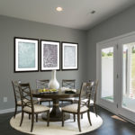 The breakfast nook opens out into the patio area. (Photo of Unit 108)