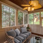 Finally, the screened porch where you can sit in comfort while the kids or pets run around the back yard.