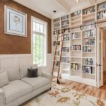 Your first editions can all be carefully housed here in your built-in bookshelves. This would also be the BEST room for a book club gathering! (This photo has been virtually staged)