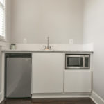 395 square feet includes this kitchenette for your home business or guest suite.