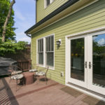Back deck comes off the kitchen space and has plenty of room for your entertaining!