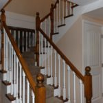 Open stairwell to the basement, which has another 1000-plus square feet of living space.