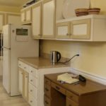 Spacious kitchen with stainless steel appliances will make the chef in the family smile.