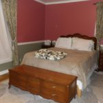 Master bedroom is on the main level and has great designer paint colors.