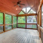 This incredible outdoor space has a screened porch for those buggy summer nights.