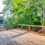Here's another great view of the deck, which has built in outdoor lighting.