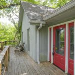 Walk out your front door and enjoy your morning coffee from your treehouse-like front deck.