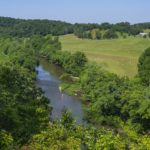 The Harpeth River runs thru the countryside and is a constant gorgeous view from every vantage point in the house.