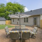 Plenty of space in the fully fenced backyard for playtime -- in case you wondered, the fence is brand new like the roof! Invite your new neighbors for a picnic dinner outside.