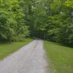 This gravel road leads thru the trees to your new home and its amazing views.