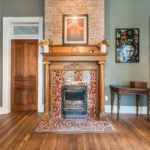You will find these gorgeous decorative fireplaces all throughout this house. Used at one time for warmth, they are all non-operative at this time.