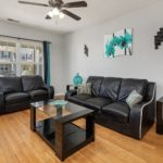 Greet your guests from your spacious living room.